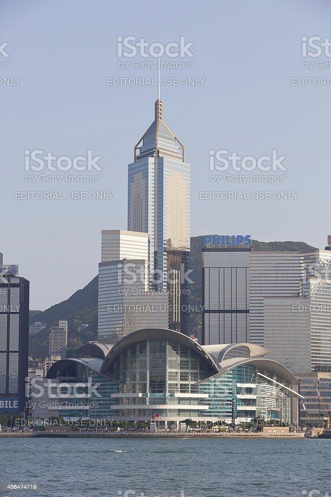 Victoria Harbor in Hong Kong stock photo