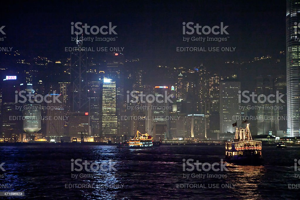 Victoria Harbor in Hong Kong royalty-free stock photo