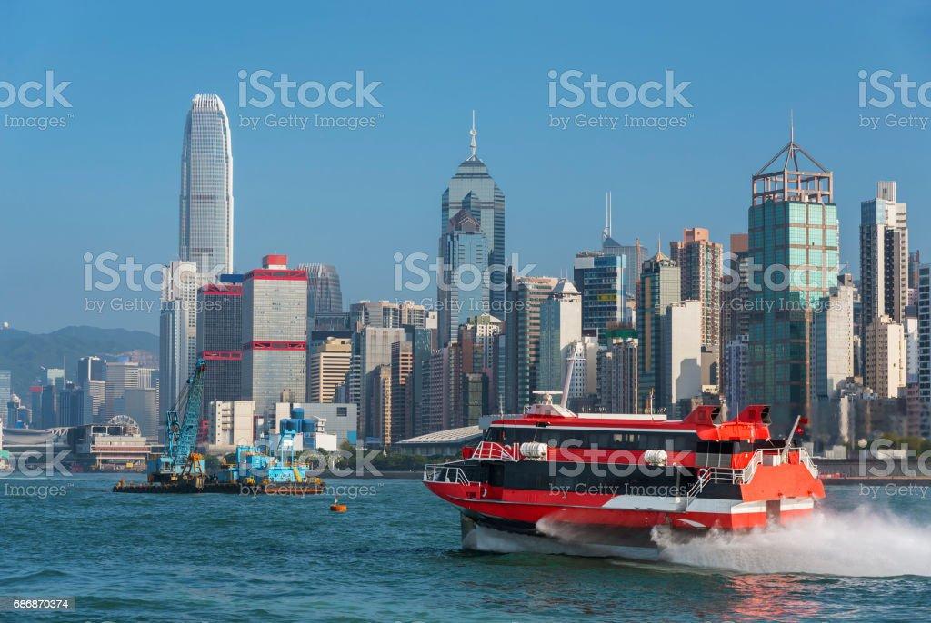 Victoria Harbor of Hong Kong city stock photo