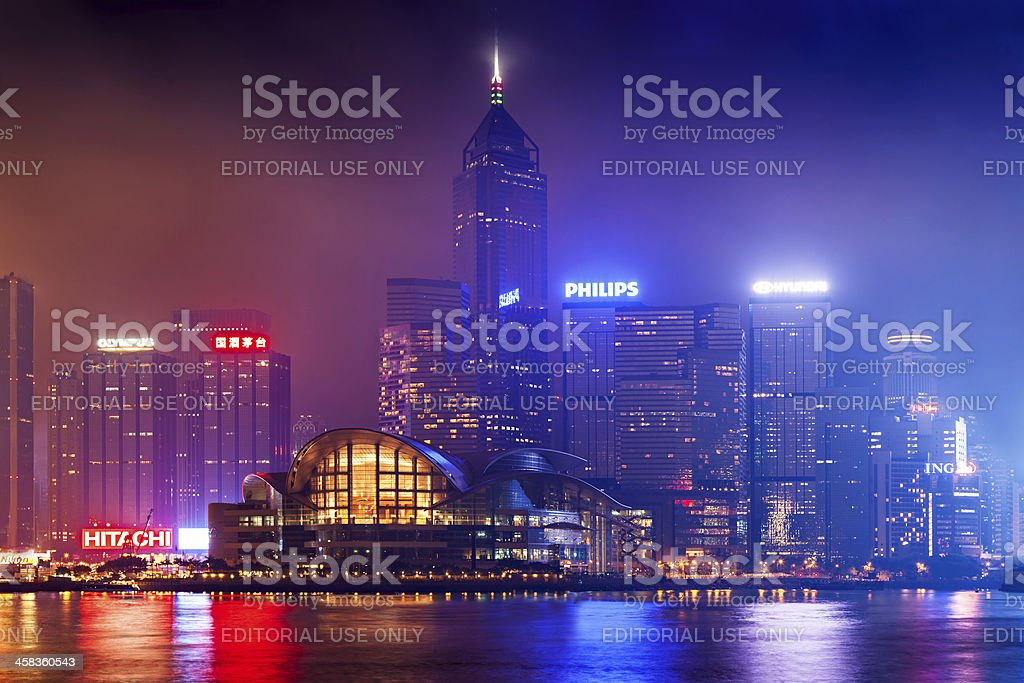 Victoria harbor royalty-free stock photo