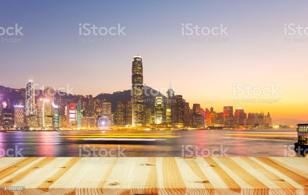 Victoria Harbour Hong Kong stock photo