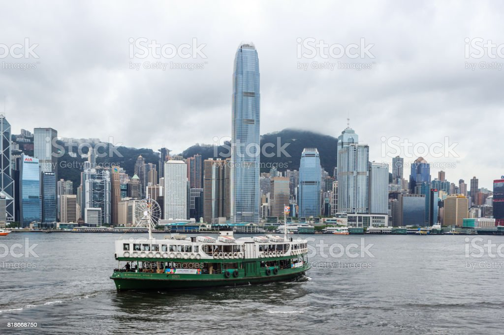 Victoria Harbour in Hongkong stock photo