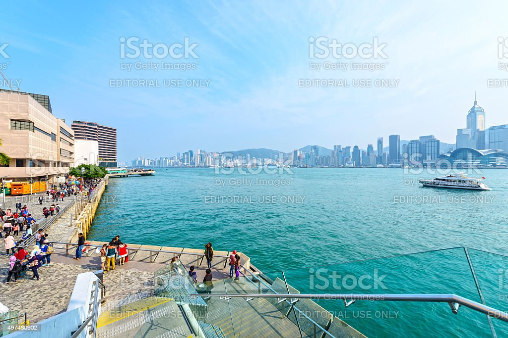 Victoria Harbour of Hong Kong stock photo