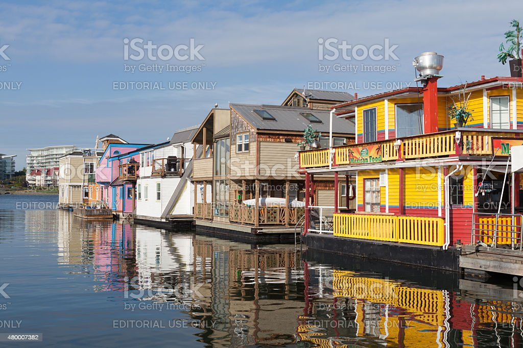 Victoria Houseboats stock photo