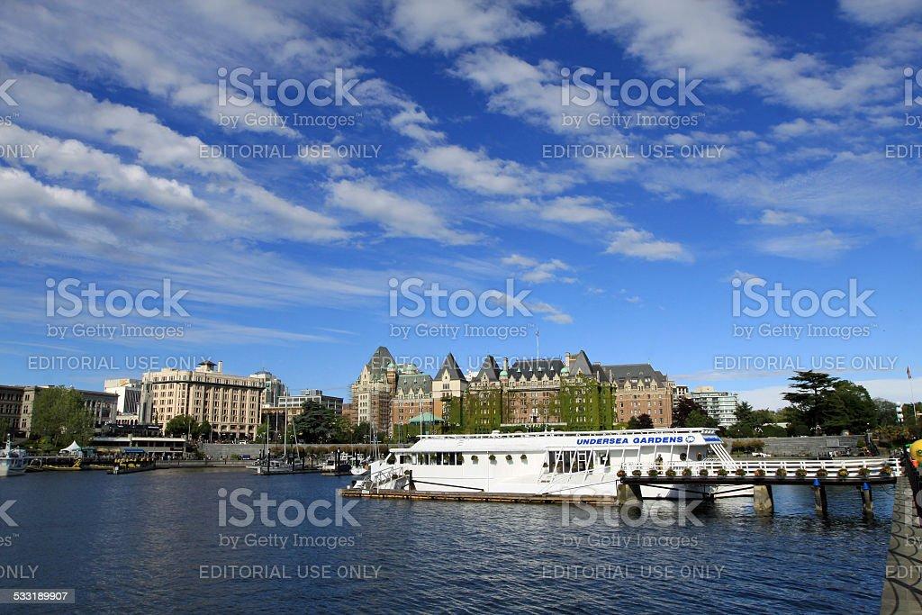 Victoria Inner Harbor stock photo
