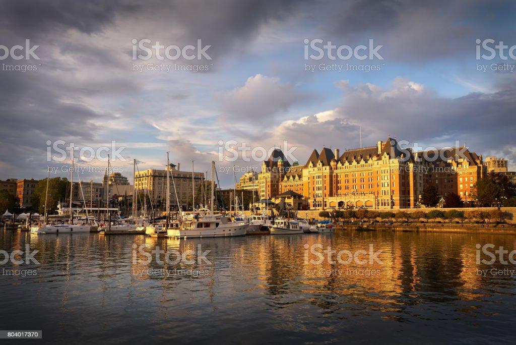 Victoria Inner Harbor Reflection stock photo