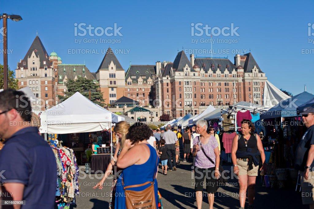 Victoria Inner Harbour Market stock photo