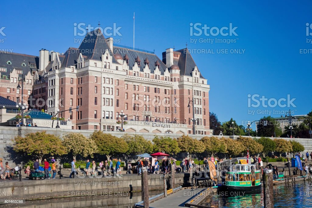 Victoria Inner Harbour stock photo