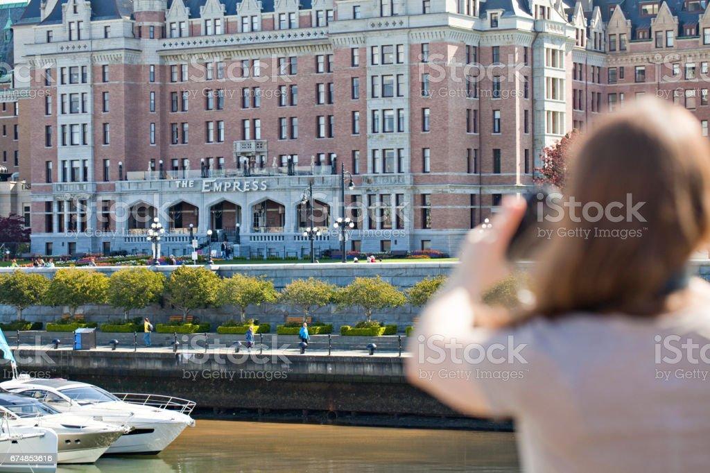 Victoria Inner Harbour Tourism stock photo