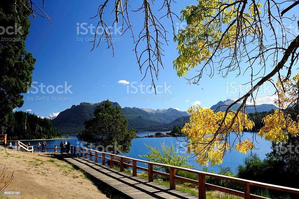 Victoria Island, Bariloche, Patagonia, Argentina stock photo