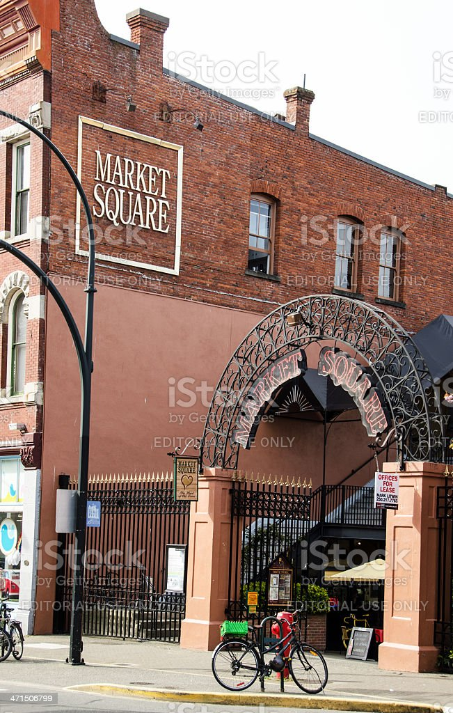 Victoria Lower Johnson Street Market Square royalty-free stock photo