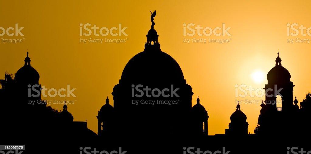 Victoria Memorial in Calcutta stock photo