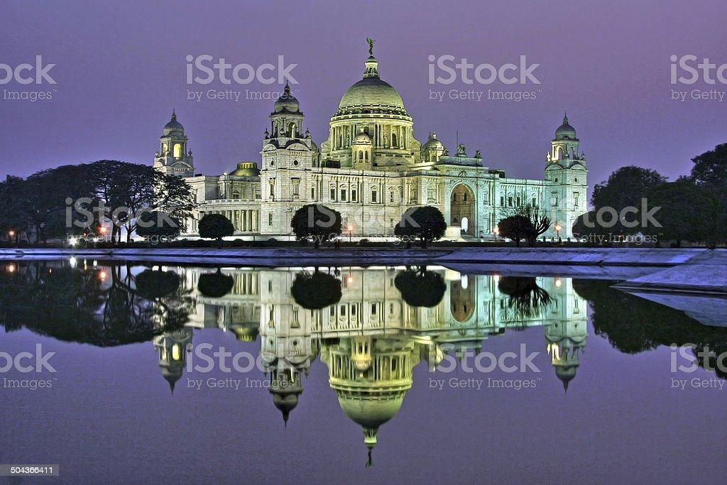 Victoria Memorial in the evening, Kolkata, India stock photo