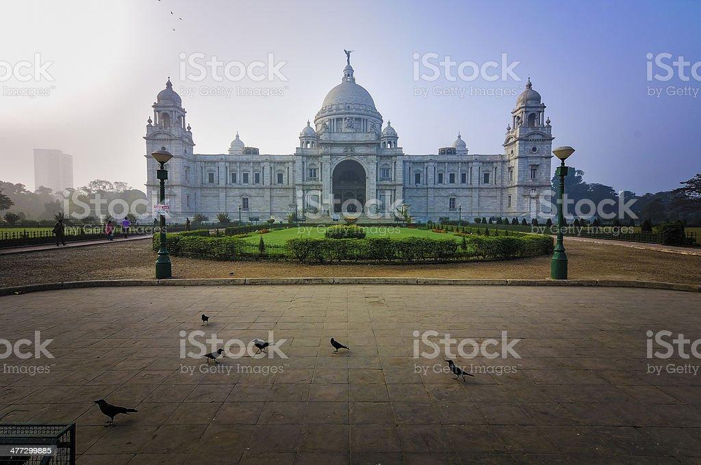 "Victoria Memorial, Kolkata , India's€"" landmark building. stock photo"