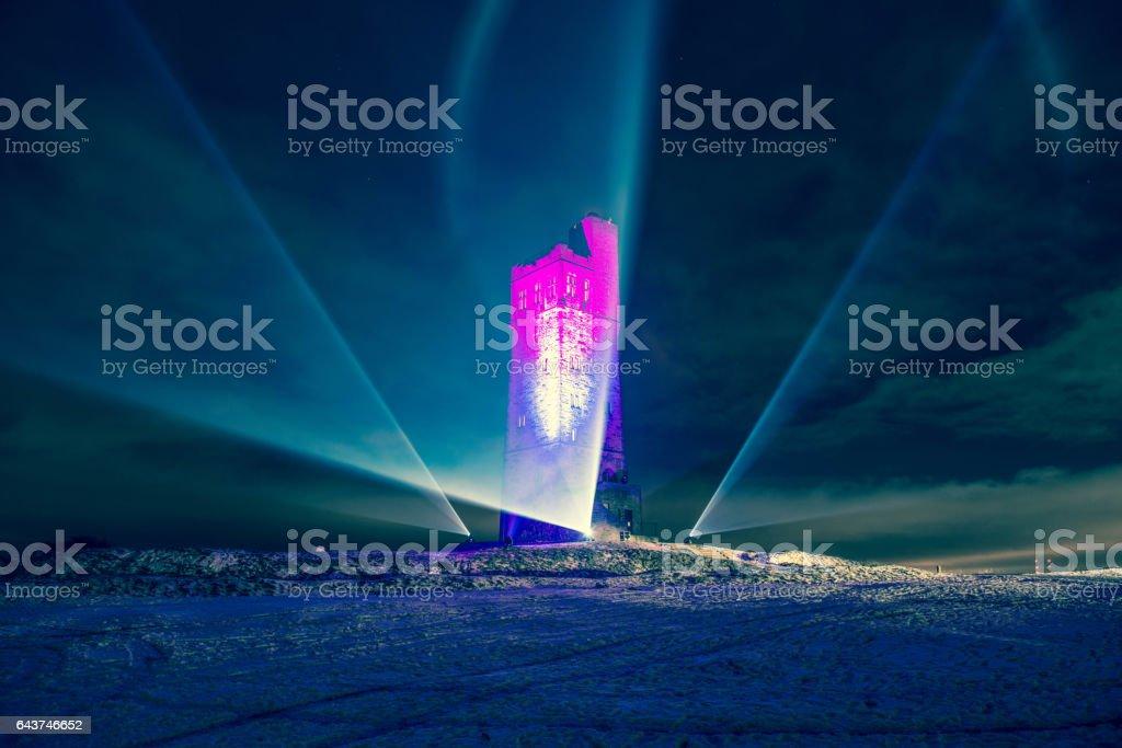 Victoria Monument, Huddersfield stock photo