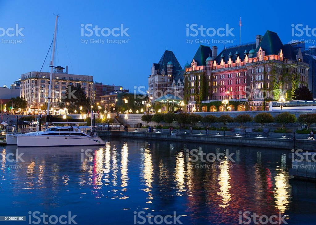 Victoria Night Lights stock photo