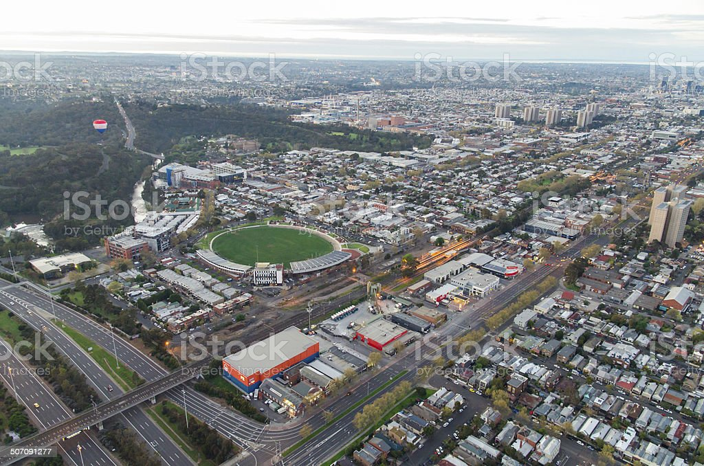 Victoria Park and Hoddle Street stock photo
