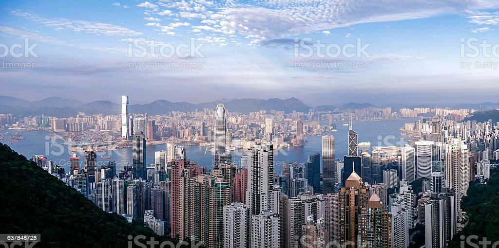 Victoria Peak :  Hong Kong stock photo