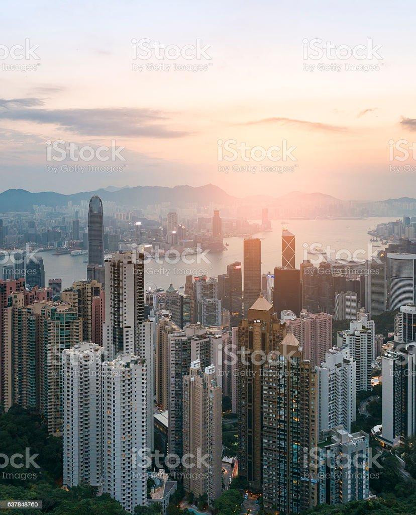 Victoria Peak Hong Kong stock photo