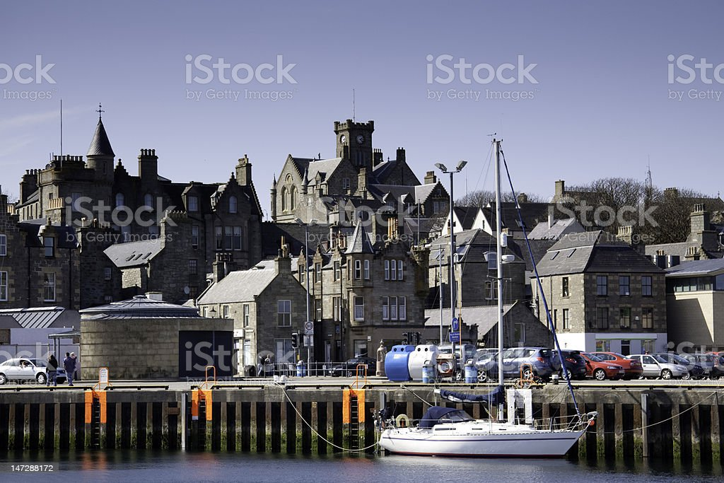 Victoria Pier at Lerwick Harbour royalty-free stock photo
