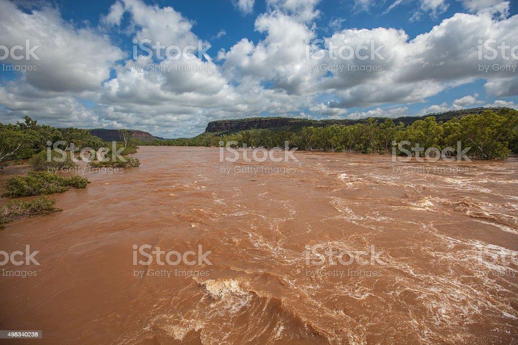 Victoria River after the rain stock photo