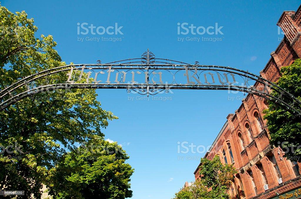 Victoria Row Sign - Charlottetown - Canada stock photo