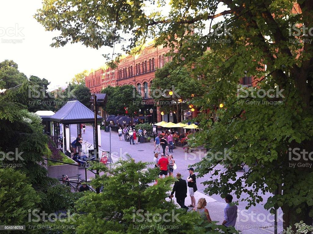 Victoria Row's Summer stock photo