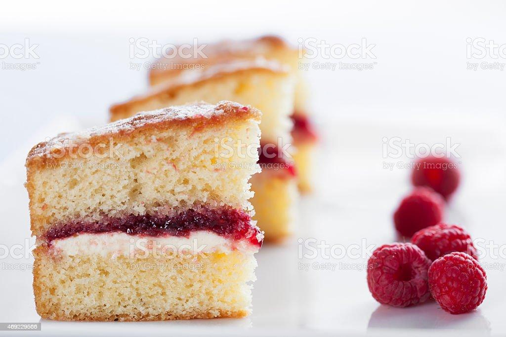 Victoria Sponge Cake stock photo