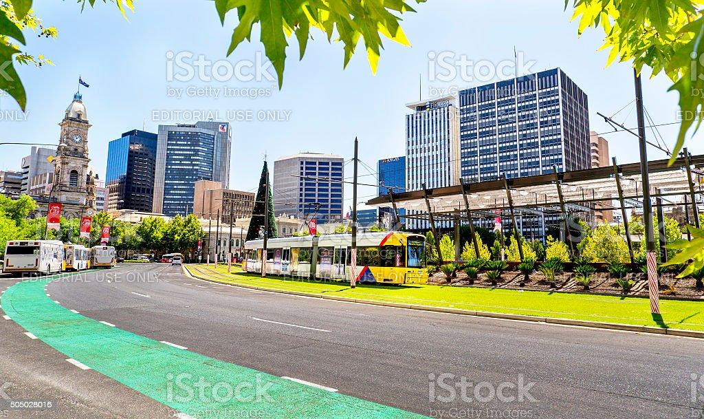 Victoria Square, Adelaide City stock photo