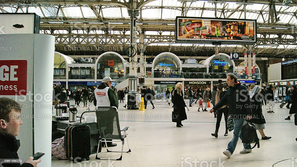 Victoria Station in London stock photo