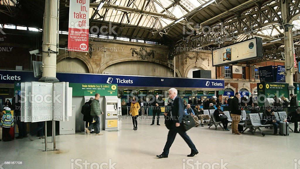 Victoria Station London stock photo