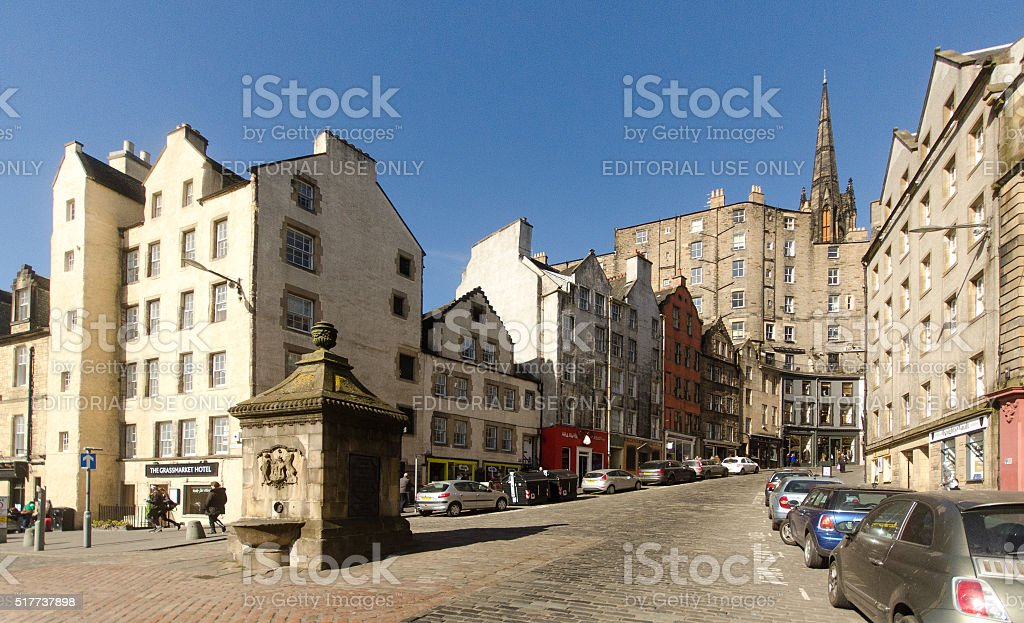 Victoria Street, Edinburgh stock photo