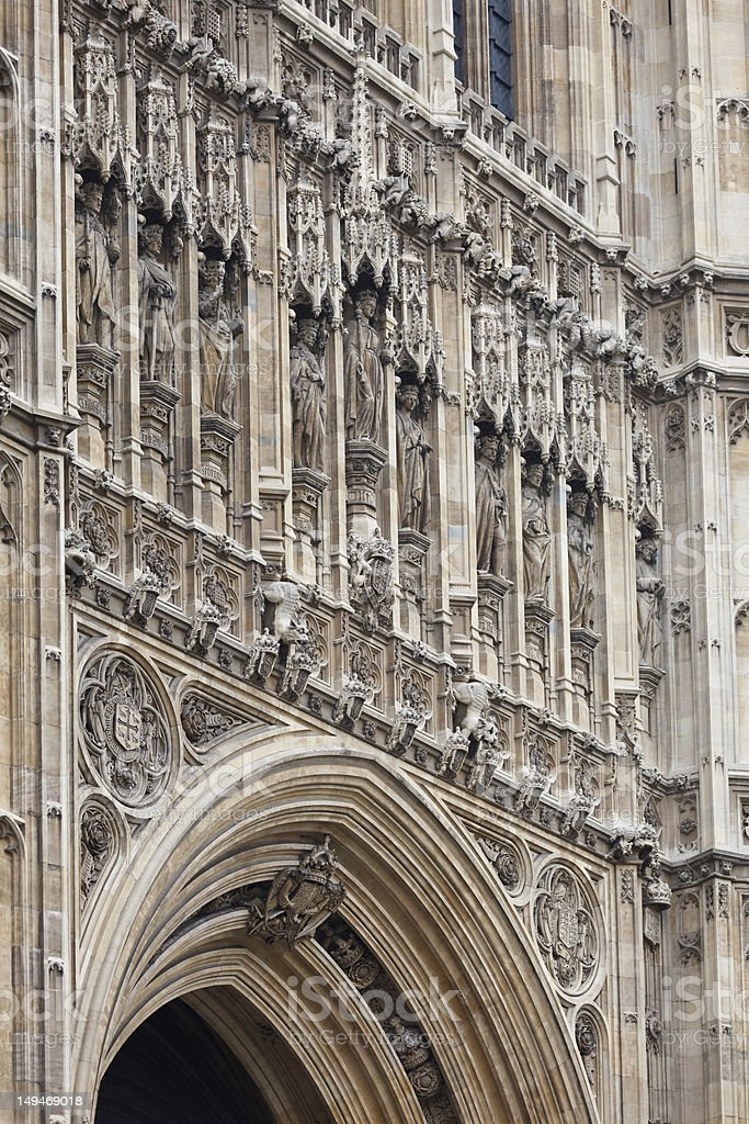 Victoria Tower detail royalty-free stock photo