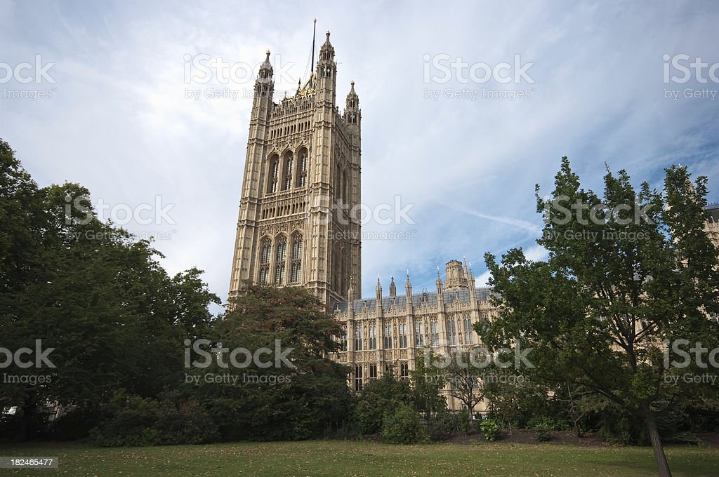 Victoria Tower from the gardens royalty-free stock photo