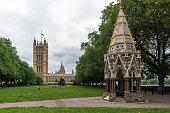 Victoria Tower Gardens and Houses of Parliament, London, England