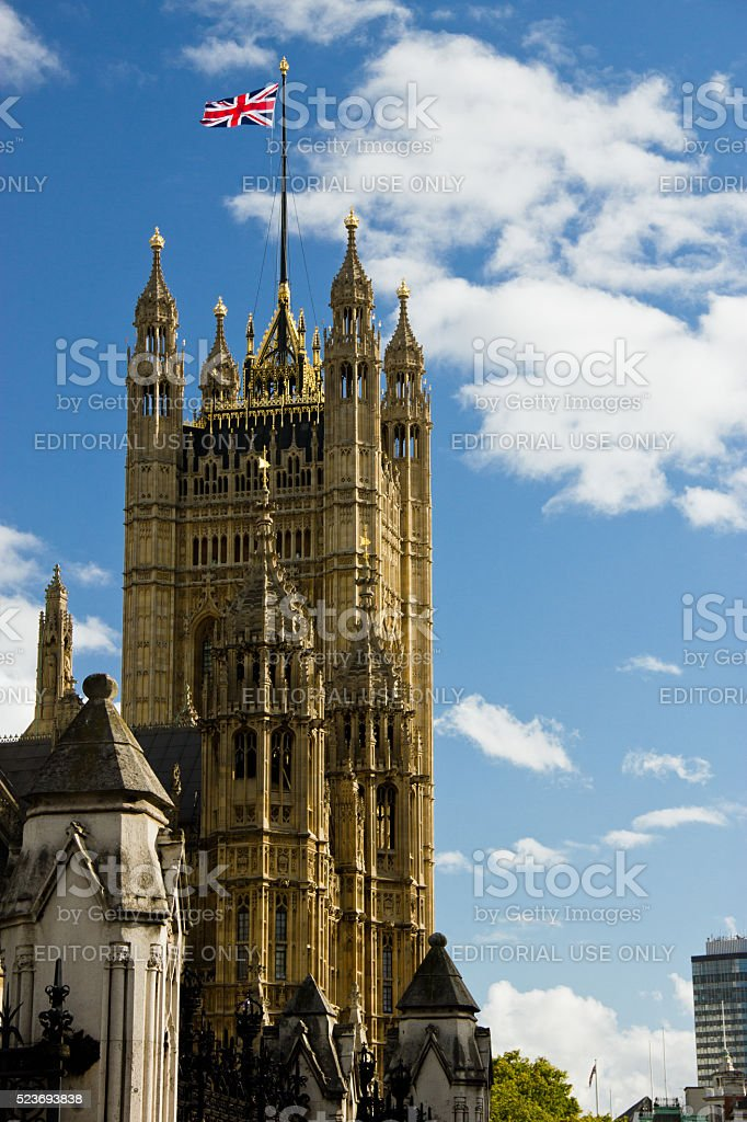 Victoria Tower on a sunny day stock photo
