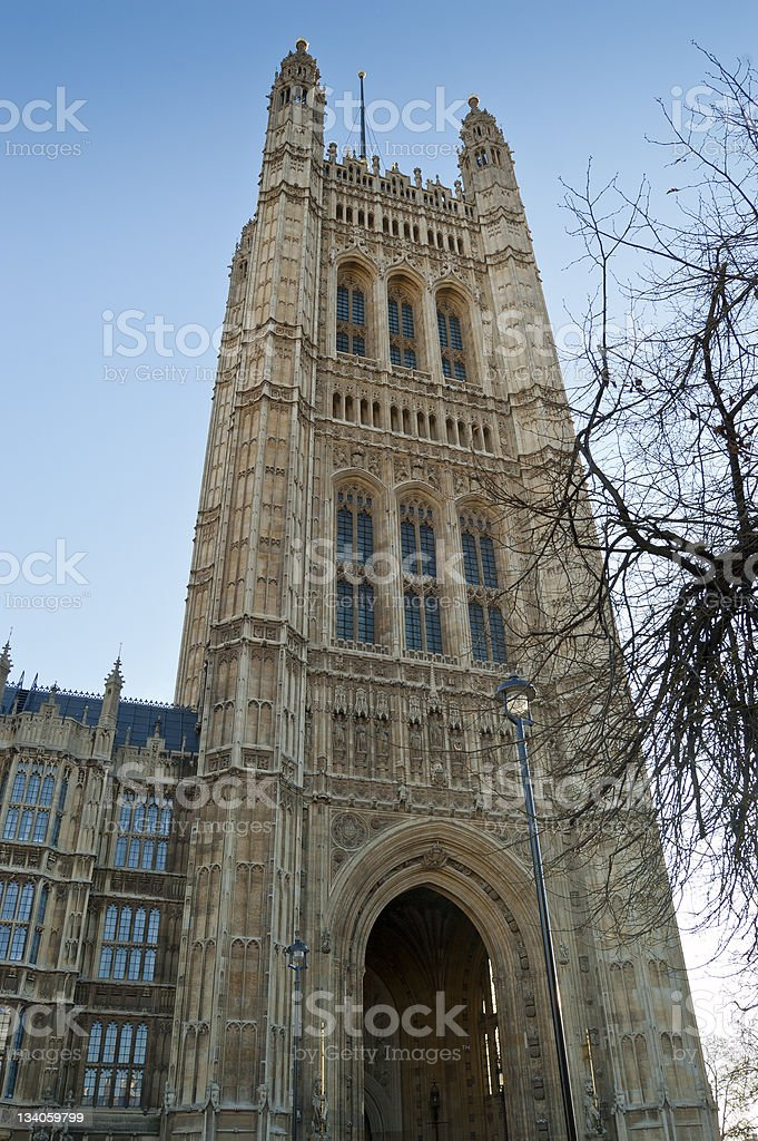 Victoria Tower, Palace of Westminster, London royalty-free stock photo