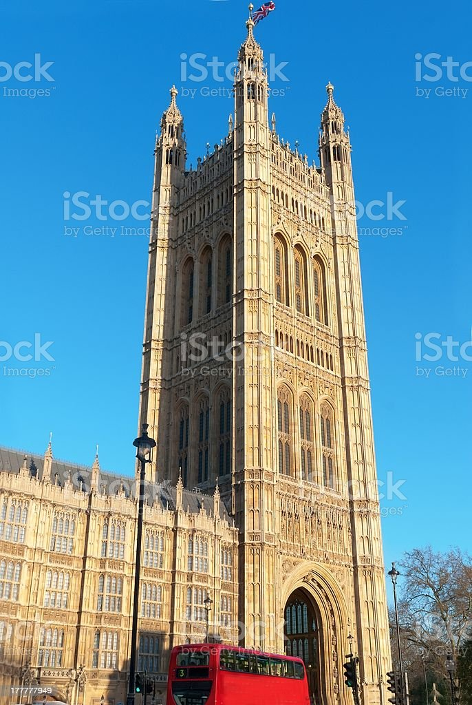 Victoria Tower - part of the Houses Parliament royalty-free stock photo