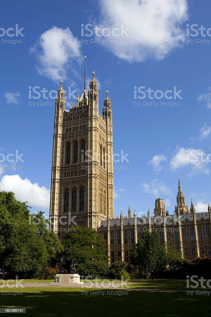 Victoria Tower & The Houses Of Parliament stock photo