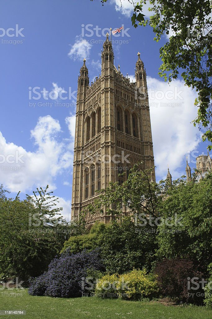 Victoria Tower Westminster London England UK royalty-free stock photo