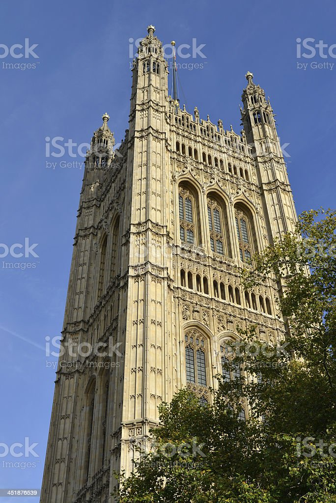 Victoria tower. Westminster palace. London royalty-free stock photo