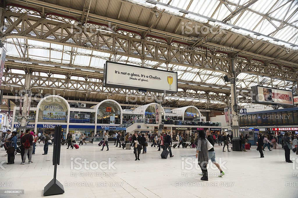 Victoria train station in London, UK royalty-free stock photo