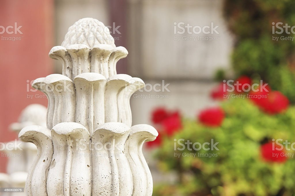 Victorian Acorn Leaf Finial Moulding stock photo