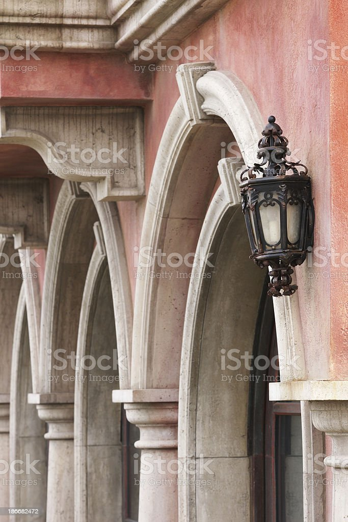 Victorian Architecture Arch Column Lintel royalty-free stock photo