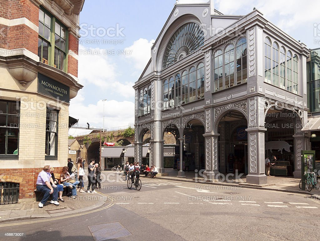 Victorian architecture, Borough Market, London stock photo