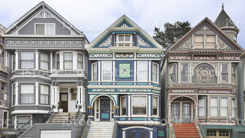 Victorian Architecture - San Francisco royalty-free stock photo