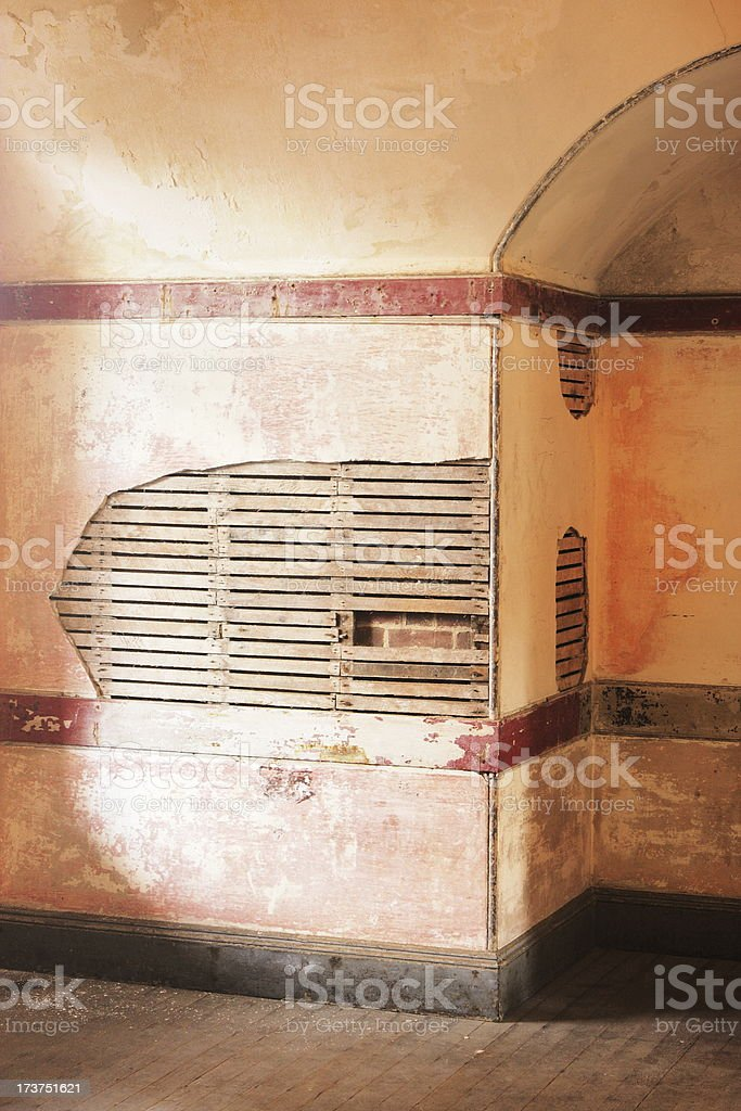 Victorian Attic Room Alcove Plaster Wall royalty-free stock photo