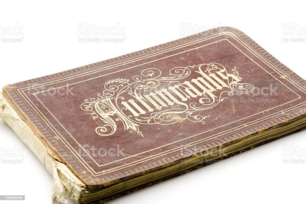 Victorian Autograph Book stock photo