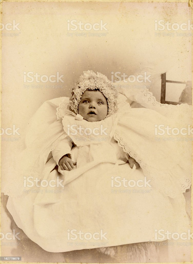 Victorian Baby vintage photograph royalty-free stock photo