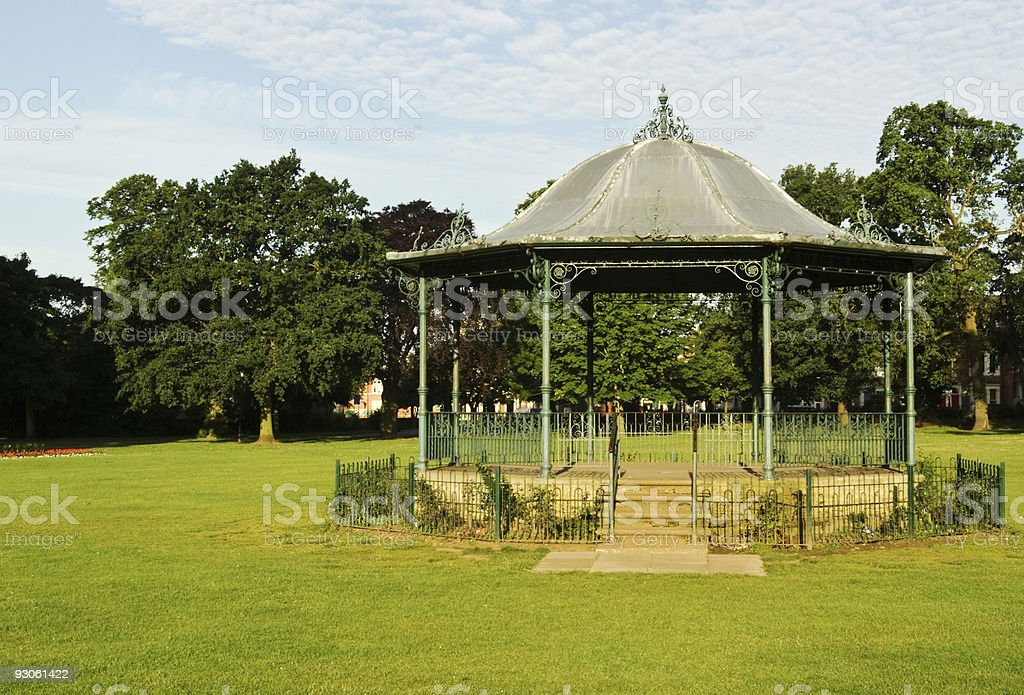 Victorian band stand stock photo